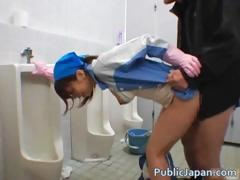 asian-maintenance-lady-cleans-wrong-part1