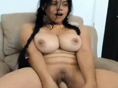 busty brunette latina bitch girl on webcam