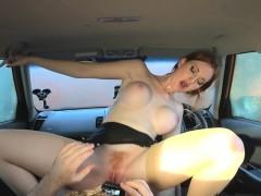 fake driving school pink nipples huge tits redhead