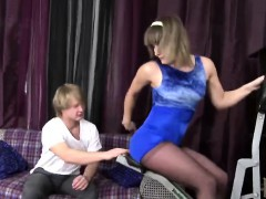 Sexy Sister Emily Davis Stretches Body Before
