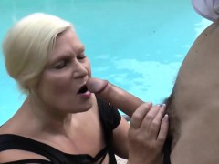 Granny Blows Big Dong And Gets Banged In Doggy