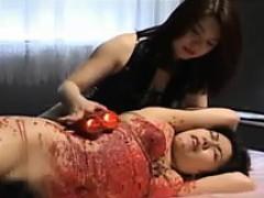 Hardcore lesbian BDSM play