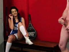 english voyeur babe watches a man wank off teen porn stars