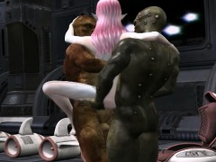 sweet elf double penetrated by two monsters