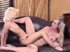 Pretty Teen Bella In A Lesbian Fuck With Milf Brandi