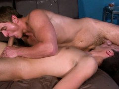 Ripped straight hunk cocksucking and jerking