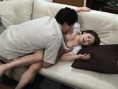 Asian amateur gettting her boobs massaged