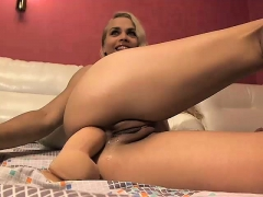 Blonde Latin Is On The Way To Orgasm In Anal Solo Action