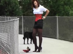Hot Milf In Latex Heels Stockings. See Part2 At Goddessheels