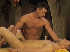 Gay Couple Having An Erotic Anal Massage