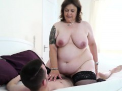 British Chubby Mature Lady Takes A Young Cock