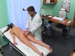 doggystyled babe enjoys doctors examination