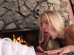 Sensational Blonde Loves His Big Black Cock