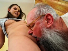 Lucky Old Grandpa Gets The Taste Of A Hot Young Woman