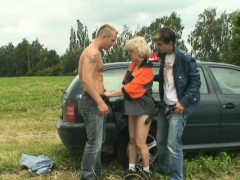 blonde-granny-double-penetration-in-the-fields