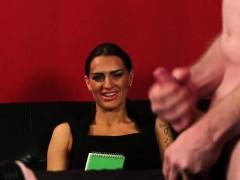 sexy english femdom instructing jerking guy