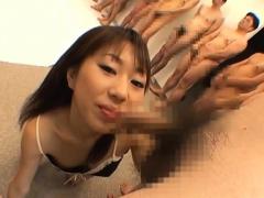 Минет Азиатки Японское Гангбанг фото 8