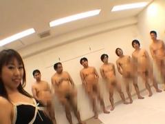 Минет Азиатки Японское Гангбанг фото 9