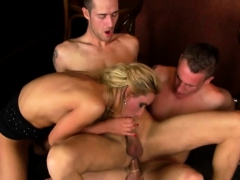 Taut Teen Welcomes 2 Chaps To Fuck Her In Rough Manners