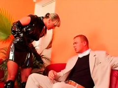 older playgirl gets gagged and dominated by young wench