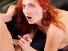 Stunning Redhead Red Sonya Fucked On Couch