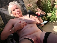 british-horny-granny-playing-outside