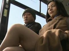 concupiscent passenger manhandles sweet honey in public