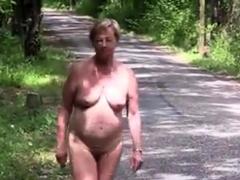 Mature Nude Outside