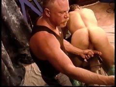 Hot Muscle Stud Derek Da Silva Gets Balls Bashed On Steel