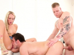 inked hunks assfucking and pussylicking babe WWW.ONSEXO.COM