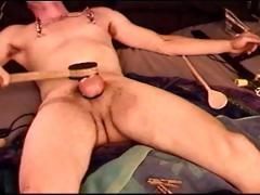 auto-cbt-young-dude-punishes-his-own-balls-and-tits