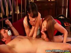 hand-cuffed-guy-gets-blown-and-filmed-by-horny-girls