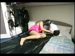 Slutty Slave Girl Shows Off Her Skills
