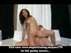 Cute Afro Chick Riding Cock And Fucked Hard And Licked On