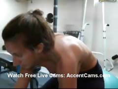 Girl Strips At Gym While On Webcam