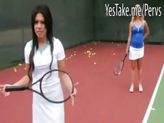 two-horny-babes-play-tennis-then-share-on-cock-and-cum