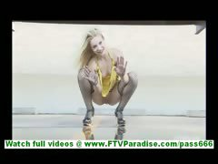 nikkie-blonde-sex-kitten-in-short-dress-and-no-panties
