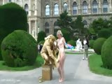 Blonde Teen Lucie Has Fun On Public Places