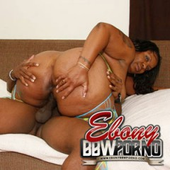 Midget on a fat nude woman