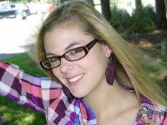 Hot Amateur Glasses Wearing Blonde Teen - N