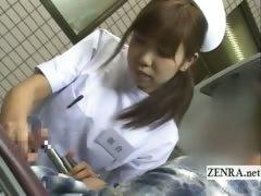 subtitled-japanese-nurse-patient-handjob-with-cumshot