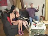 Sweetie gets lured into threesome by her BF's parents