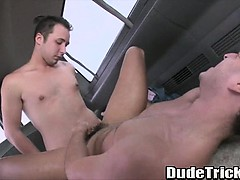 Tan Stud Gets Doggystyle Fucked By A Big Cock