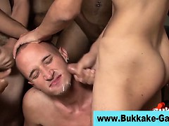 Interracial gay ass fuck bukkake