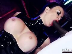 Hot Brunette In Stockings Loves Getting Hard Cock