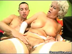 penis sucking granny in lingerie