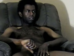 amateur-ebony-hunk-tugging-on-his-rock-hard-cock
