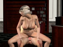 Hot 3d Blonde Babe Getting Fucked Hard By The Godfather