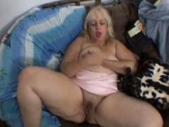 Bbw Ugly Bitch Masturbates On A Couch