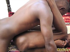 Flexible African Firsttimer Takes A Dick